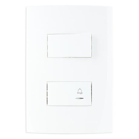 Conjunto-1-Interruptor-Simples---1-Puls-Campainha-4X2-10A-250V-B3---19472---MARGIRIUS
